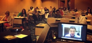 """Virtual Guest from Brazil in the """"How to Globally Connect Your Classroom"""" at NBEA 2013"""